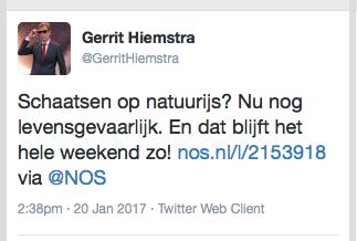 Gerrit Hiemstra tweet