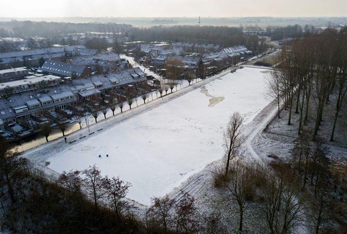 De ijsbaan op woensdagochtend 28-2-2018. Foto: Jan Rein Hettinga.