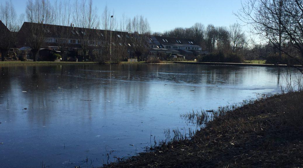 De Meernse IJsbaan op zondag 20 januari 2019, voordat deze vernield werd.