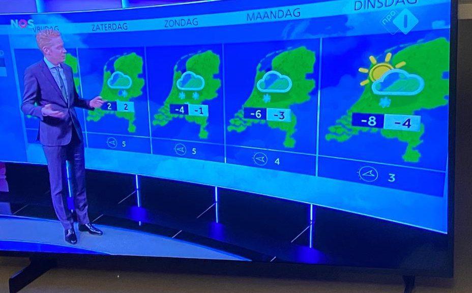 Het NOS-weerbericht van 3 februari 2021